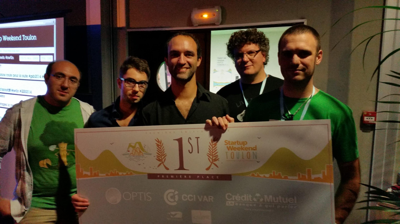 1er prix au Startup Weekend Toulon